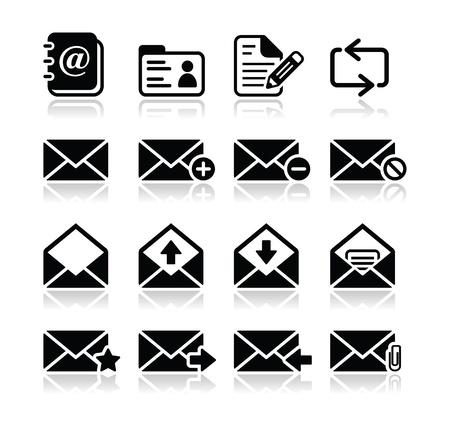 E-mail mailbox vector icons set