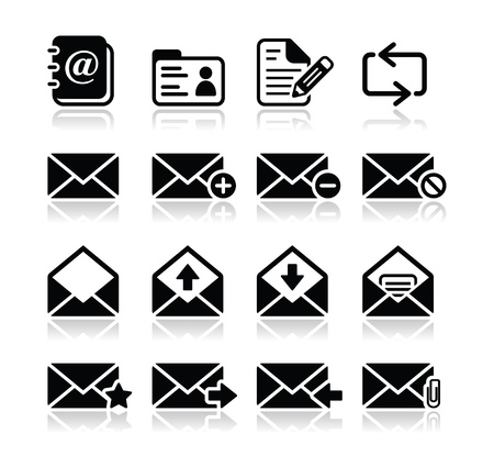 Email mailbox vector icons set Stock Vector - 16398340