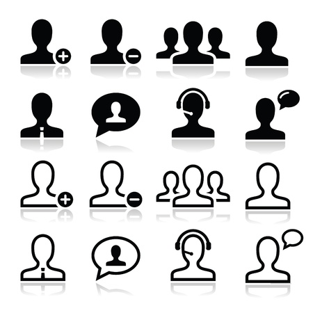 User man avatar icons set Vector