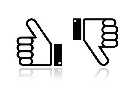 thumbs up: Thumb up and down black icon - social media