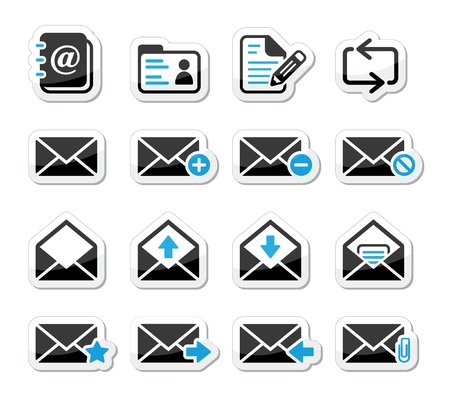 delete icon: Email mailbox icons set as labels