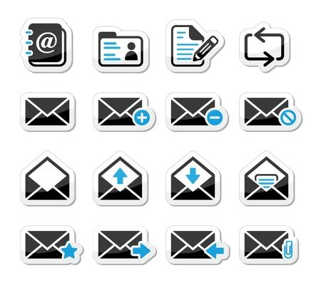 buzon de correos: Iconos del buz�n de correo electr�nico que figuran como etiquetas