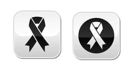 cancer ribbons: Vector set of ribbons symbols for breast cancer awareness