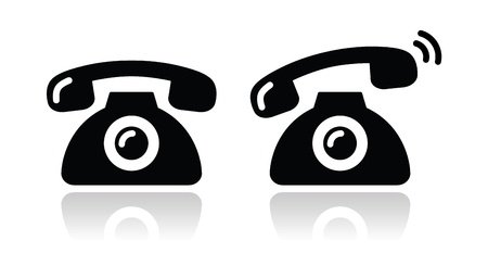 Ringing phone - contact icons set Stock Vector - 16666361