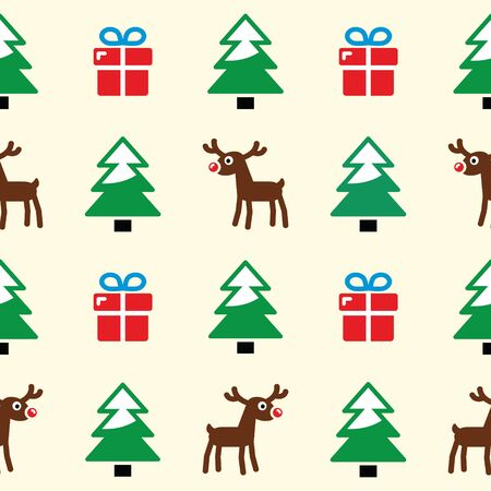 Christmas background - seamless pattern Vector