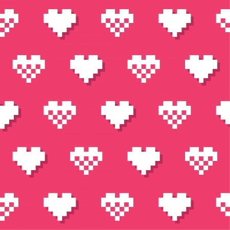 Heart pink seamless background, pattern - Valentines Day Stock Vector - 16687319