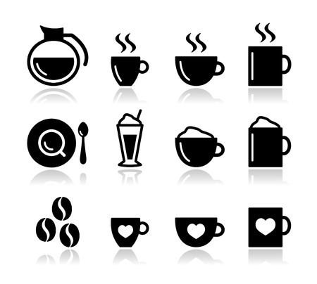 cold coffee: Coffee icon set