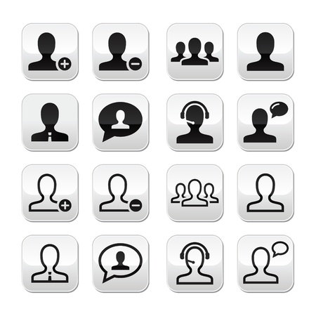 User man avatar vector buttons set Stock Vector - 16807329