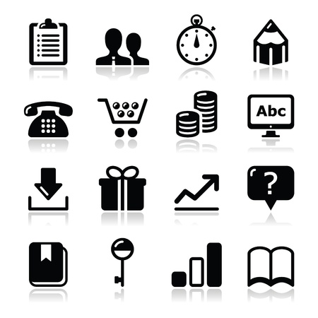 clipboard isolated: Website internet icons set  Illustration