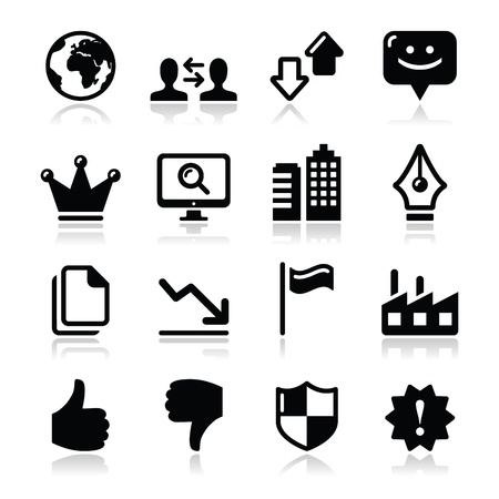 Web internet icons set - vector Stock Vector - 17257734