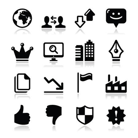 king master: Web internet icons set - vector Illustration