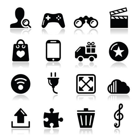 Web internet icons set - vector Stock Vector - 17314422