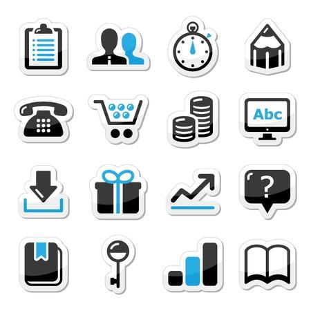contact book: Iconos del Web de Internet establecido