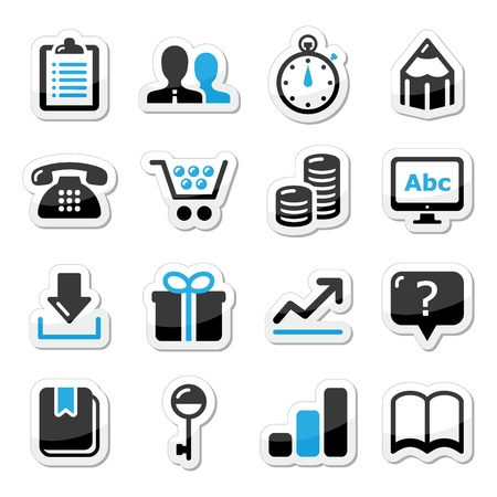 Web internet icons set Stock Vector - 17339888