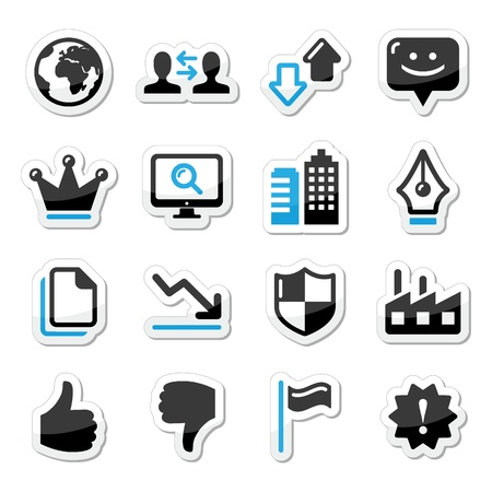 company building: Web internet icons set - vector Illustration