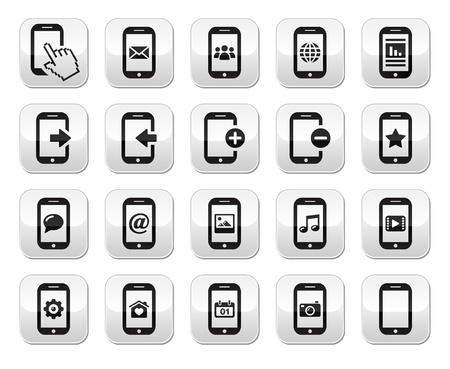 Smartphone   mobile or cell phone buttons set Stock Vector - 17418567