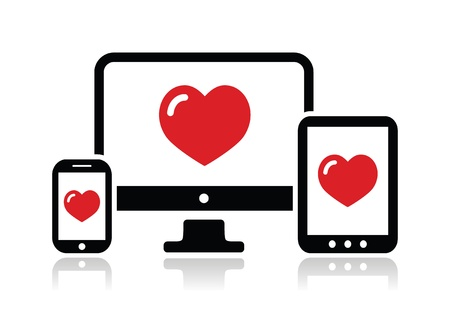 Responsive design for web - computer screen, smartphone, tablet icon Vector