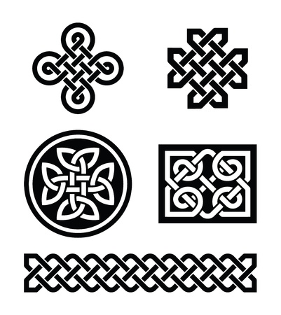 Celtic knots patterns  Stock Vector - 17477861