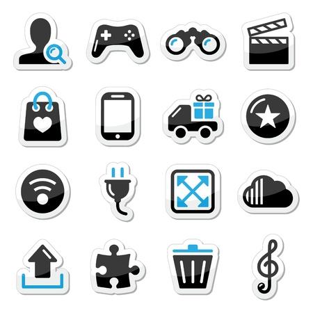 Web internet icons set - vector Stock Vector - 17477863