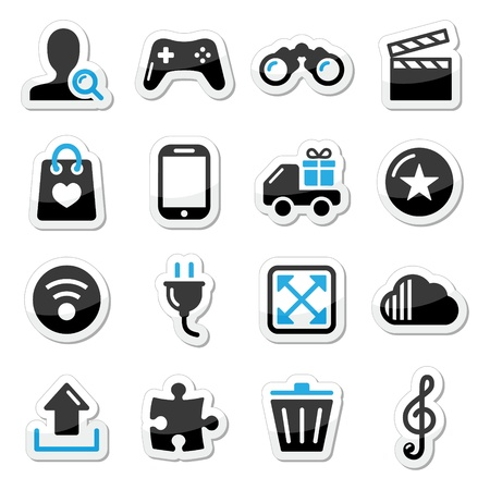 magnyfying glass: Web internet icons set - vector Illustration