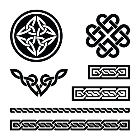 plait: Celtic knots, braids and patterns - vector