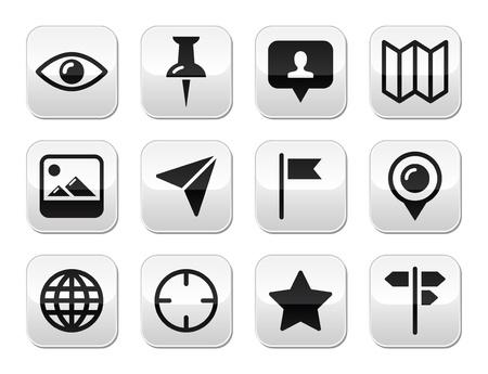 Travel location modern buttons set Stock Vector - 17526767