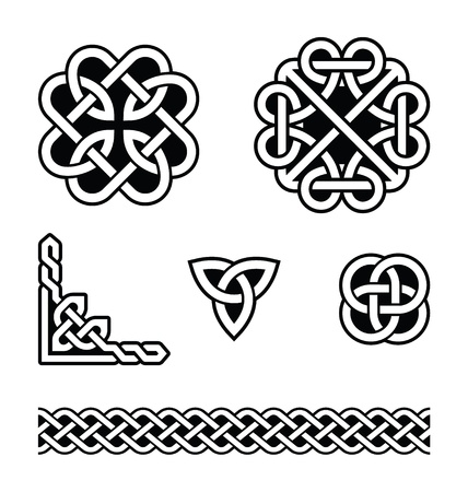plait: Celtic knots patterns - vector