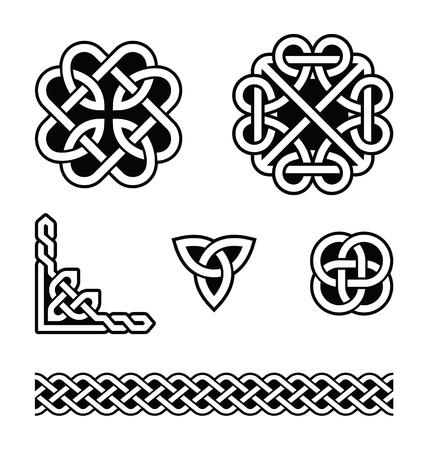 Keltische knopen patronen - vector
