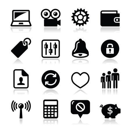 Internet Web icons set - vector