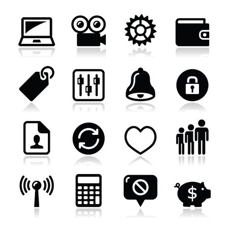 price tag: Web internet icons set - vector Illustration
