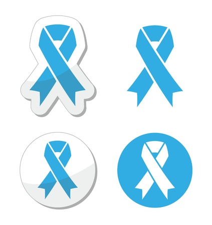 Blue ribbon - prosate cancer, childhood cancer aweresness symbol Stock Vector - 17660551