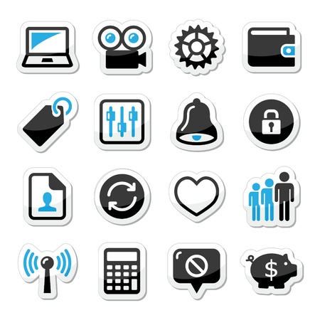 Web internet icons set - vector Stock Vector - 17772366