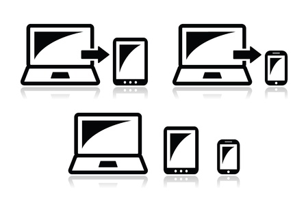 Responsive design - laptop, tablet, smarthone vector icons Stock Vector - 17772363