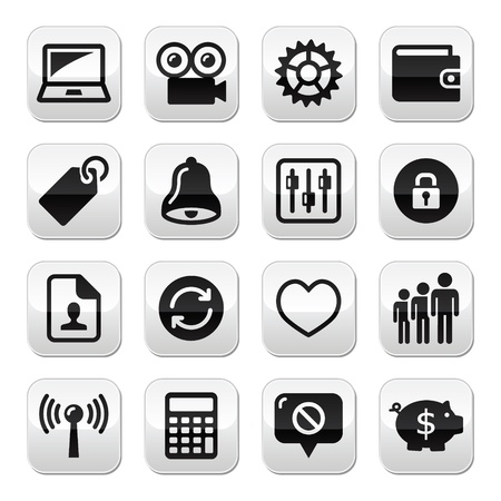 forbidden love: Web internet buttons set - vector