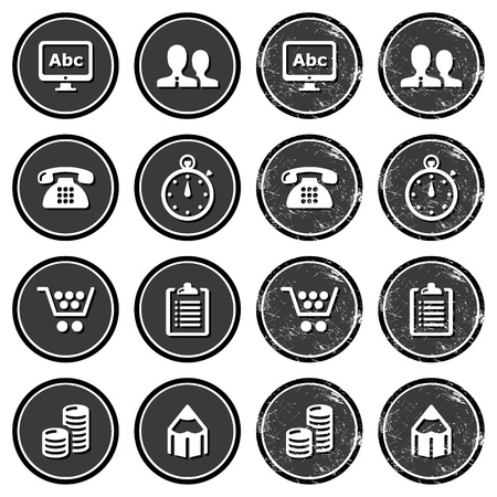 Website navigation icons on retro labels set Stock Vector - 17933542