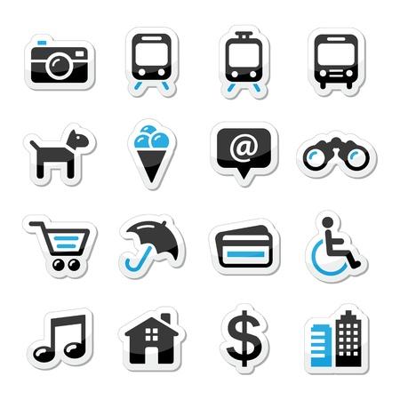 tourismus icon: Travel Tourismus und Verkehr icons set - vector