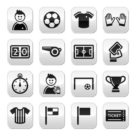 Soccer football buttons set