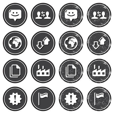 seguito: Icone di navigazione web su etichette retr? impostati Vettoriali