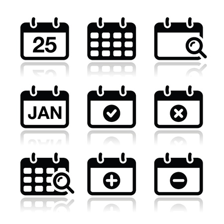 reservations: Calendar date icons set