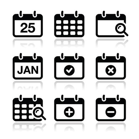 Calendar date icons set Stock Vector - 18489793