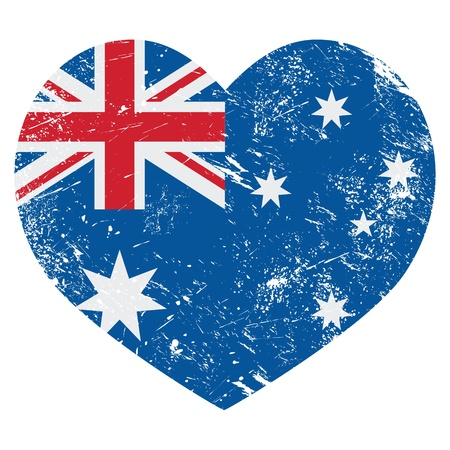 Australia retro heart flag Stock Vector - 18852993