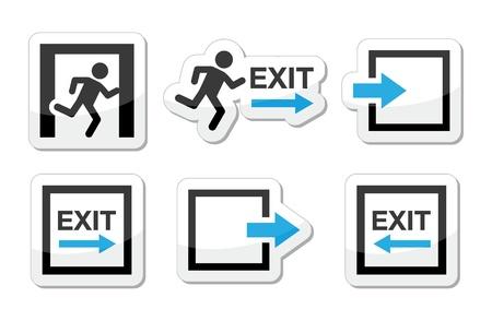 Nooduitgang pictogrammen instellen