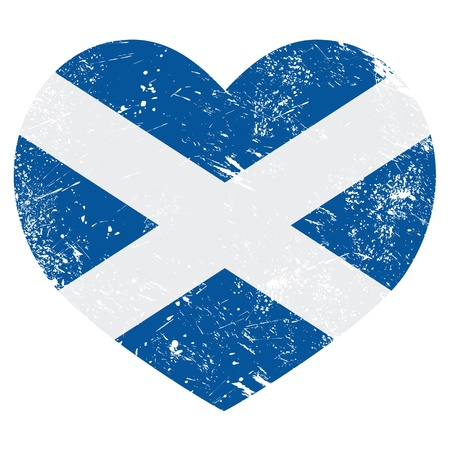 Scotland retro heart flag Stock Vector - 19196075