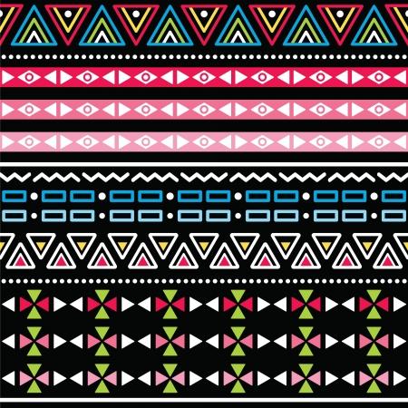 aztec art: Tribal aztec colorful seamless pattern