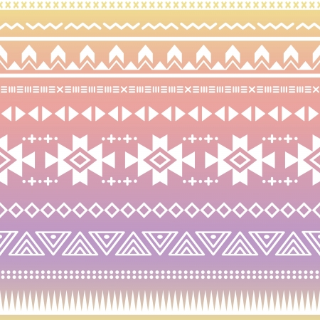 mexican folklore: Tribal aztec ombre seamless pattern