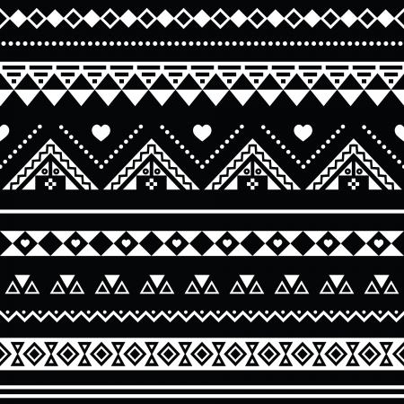 tribali: Aztec seamless, tribale sfondo bianco e nero