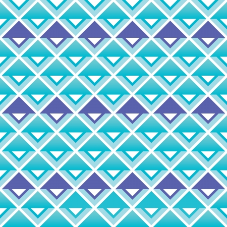 Tribal aztec blue and purple squares seamless pattern Vector