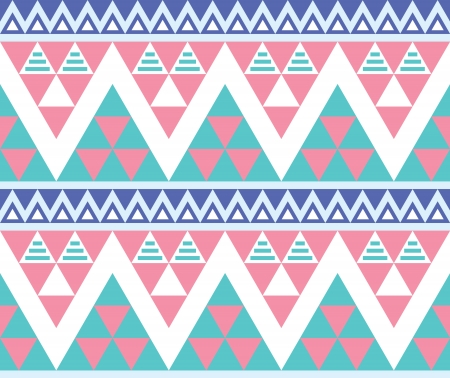 aztec: Tribal aztec colorful seamless pattern