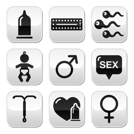 Contraception methods, sex vector buttons sex Vector