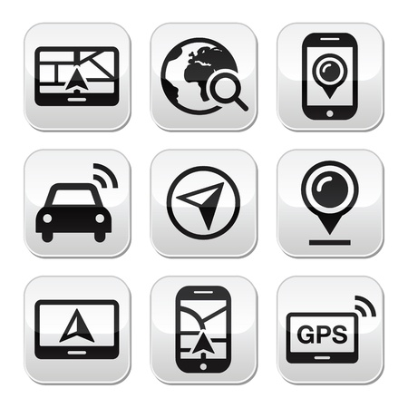 gps device: navigation travel buttons set